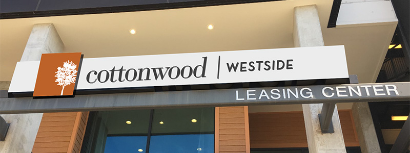 View of the Cottonwood Westside Leasing Center