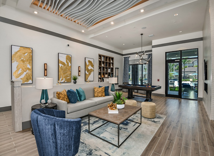 Community Clubhouse at Murano at Three Oaks