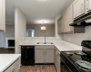 iew of Renovated Apartment Interior, Showing Kitchen Open Concept and Gas Appliances at 1070 Main Apartments