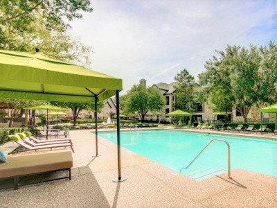 Stonebriar of Frisco Pool with Sundeck and Cabanas